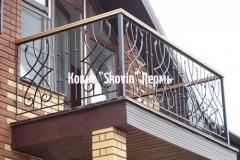 Кованый балкон № 49