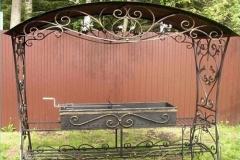 Кованый мангал с крышей № 1